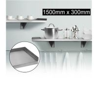Stainless Steel Wall Mounted Shelf-1500mm x 300mm