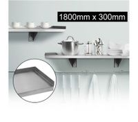 Stainless Steel Wall Mounted Shelf-1800mm x 300mm