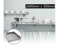 Stainless Steel Wall Mounted Shelf-2400mm x 300mm