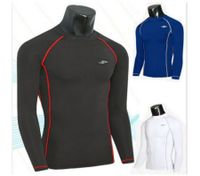 Men Compression Long Sleeve Top Shirt Under Skin
