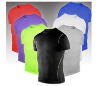 Mens Sports Compression Base Layers Tops Short Sleeve T-Shirt