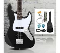 Full Size Electric Bass Guitar Pack (Black)