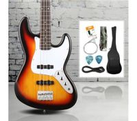 Full Size Electric Bass Guitar Pack (Sunburst)