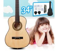 "34"" Kids Steel String Acoustic Guitar Pack (Natural)"