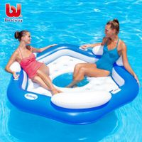 3-Person Inflatable Island for Pool or Lake