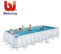 Bestway Deluxe Steel Frame Above Ground Swimming Pool