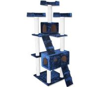 Cat Tree 7 Level 178cm Scratching Post Plush Material - Blue
