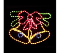 Christmas Bells with Bow Light Display
