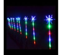 10 Piece Multi-color LED Christmas Pathway Poles