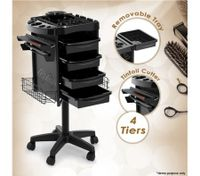 4 Tier Rolling Salon Hairdressing Tray