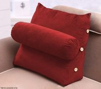 3-in-1 Back Support Pillow - Red