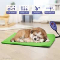 Luxurious 40cm x 30cm Heated Pet Pad Mat with Thermal Protection & Temperature Display