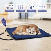Luxurious 50cm x 50cm Heated Pet Pad Mat with Thermal Protection & Temperature Display