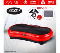 Genki Ultra Slim Vibration Fitness Machine Body Shaper Platform 2nd Gen - Red