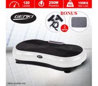 Genki Ultra Slim Vibration Fitness Machine Body Shaper Platform 2nd Gen - White