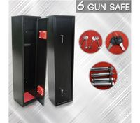 6 Gun Lockbox Steel Firearm Storage Safe Cabinet