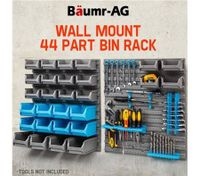 Baumr-AG Wall Mounted Tool Parts Storage Bin Rack