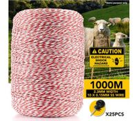 1000M Electric Fence Polywire Electric Fence Wire Rope With 25PCS Insulators