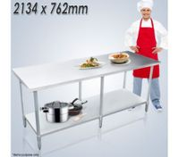 Stainless Steel Kitchen Work Bench & Catering Table (213cm x 76cm)