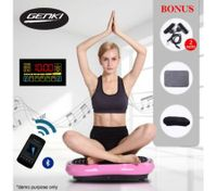 LCD Screen GENKI Body Vibration Plate Machine - LED Pink