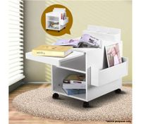 Extendable High Gloss Bedside Table