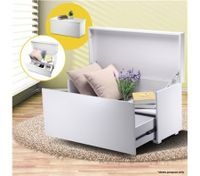 High Gloss Storage Bench Cabinet Ottoman