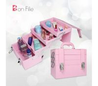 Pink Portable Makeup Beauty Cosmetic Travel Case