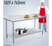 Stainless Steel Kitchen Work Bench & Food Prep Table (183cm x 76cm)