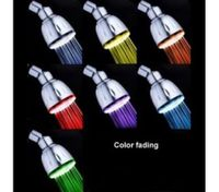Chrome Finish Contemporary 7 Color Changing LED Showerhead