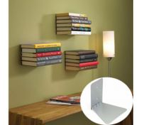 14x14x13 Wall Design Home Decor Invisible Conceal Book Shelf Floating Bookshelf