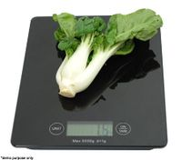 Electronic Kitchen Scale - Modern Design & Light Weight - Black