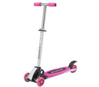 4 Wheel Portable Adjustable Fold Out Mini Ride-On Scooter - Pink