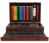 138 Piece Complete Wooden Art Box Set