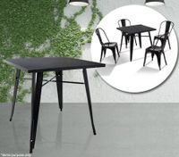 Black Square Replica Dining Table