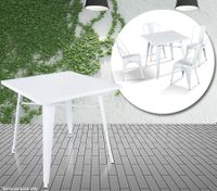 White Square Replica Dining Table