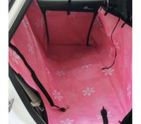 VIVI High Quality Pet Dog Cat Car Rear Back Seat Carrier Cover Pink