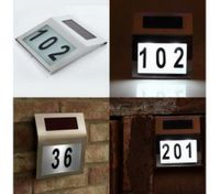 Solar powered house number light lamps for door 2 LEDs inside
