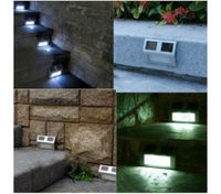 White 2 LED Solar Powered Stairway Light