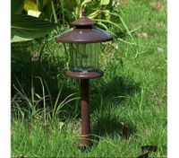 solar garden light with glass cover