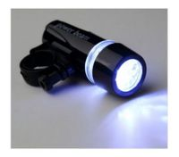 Bicycle 5 LED Power Beam Front Light Headlight Torch Lamp Black
