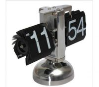 Metal Vintage Auto Flip Style Stand Clock