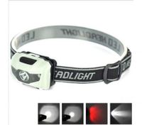 3W Led + 1 Red Led Mini Headlamp Headlight Torch Flashlight White