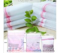 3 Sizes 9Pcs Zippered Mesh Foldable Wash Bags Clothes Protection Net