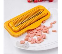 Steel Manual Fancy Sausage Hot Dog Cutter Slicers Dicer