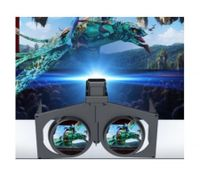 Portable Folding 3D VR Glasses Cardboard for Vitual Reality Headset Black