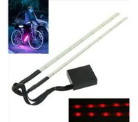 New 3 Modes Red Cycling Bike Bicycle 15 Led Safety Wheel Tire Spoke Light Strip