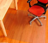Vinyl Office Chair Mat for Hard Floor Surfaces - 135cm x 114cm x 0.41cm approx