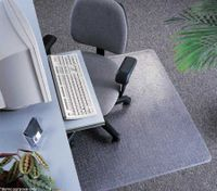 Vinyl Office Chair Mat for Carpet Floor - 135cm x 114cm x 0.41cm approx