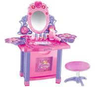 Girl's Make Up Vanity Table Play Set with Music and Light