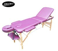 Genki Portable 3-Section Massage Table Chair Bed Foldable with Carry Bag - High Density Foam - Purple